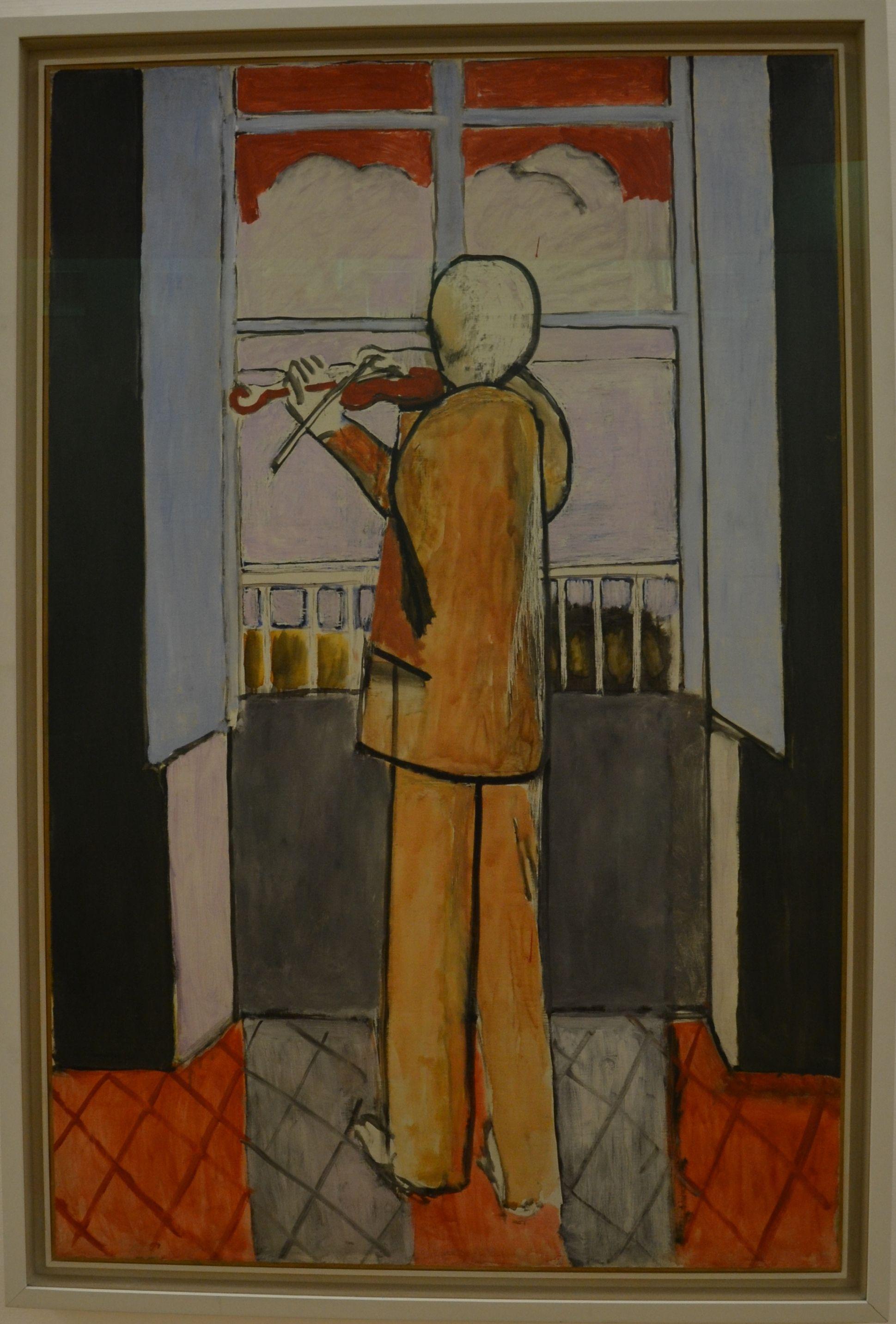Matisse le violoniste la fen tre 1918 centre pompidou for Le violoniste a la fenetre henri matisse