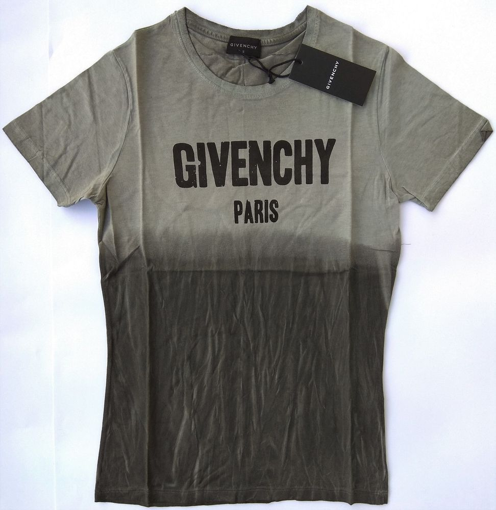 New GIVENCHY Paris Men's T Shirt Size L Holes Cuba Stripe