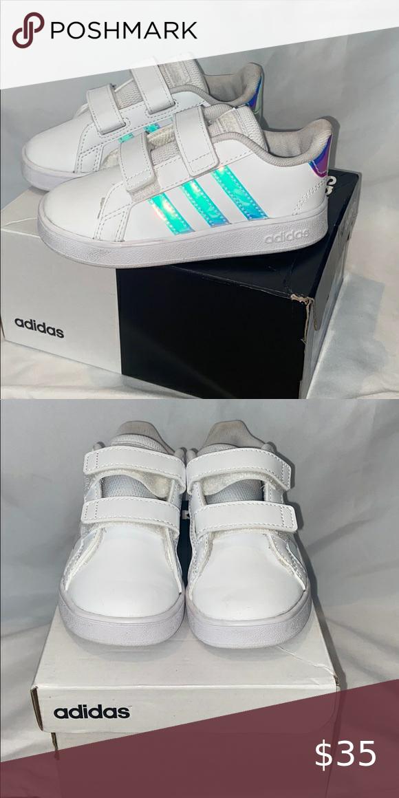 Girls Adidas Grand Court Tennis shoes