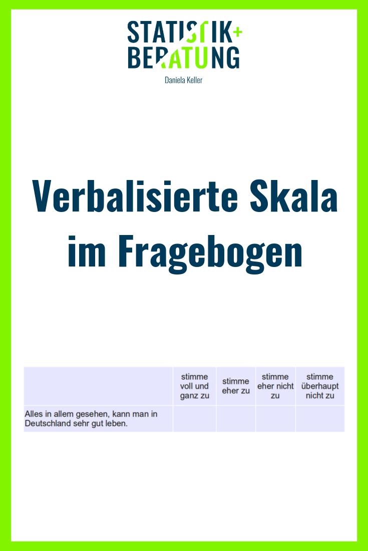 Statistiktipp Bei Verbalisierten Skalen Ist Jeder Skalenpunkt Mit Einer Verbalen Benennung Versehen Statist Fragebogen Statistik Wissenschaftliche Arbeit