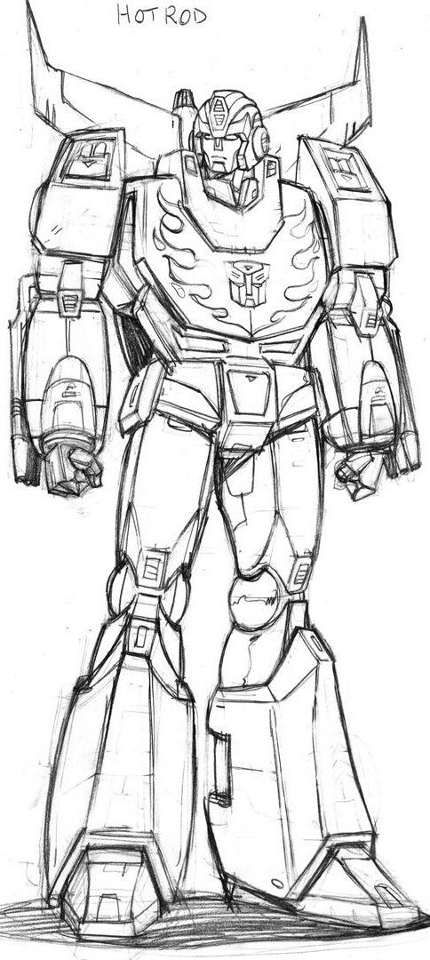 Ahm Hot Rodimus Prelim Sketch By Guidoguidi On Deviantart Transformers Drawing Transformers Coloring Pages Hot Rods