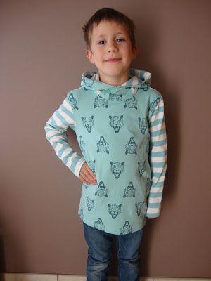 MaMaSa Sewing: Longsleeve met kap - including free pattern size 1 ...