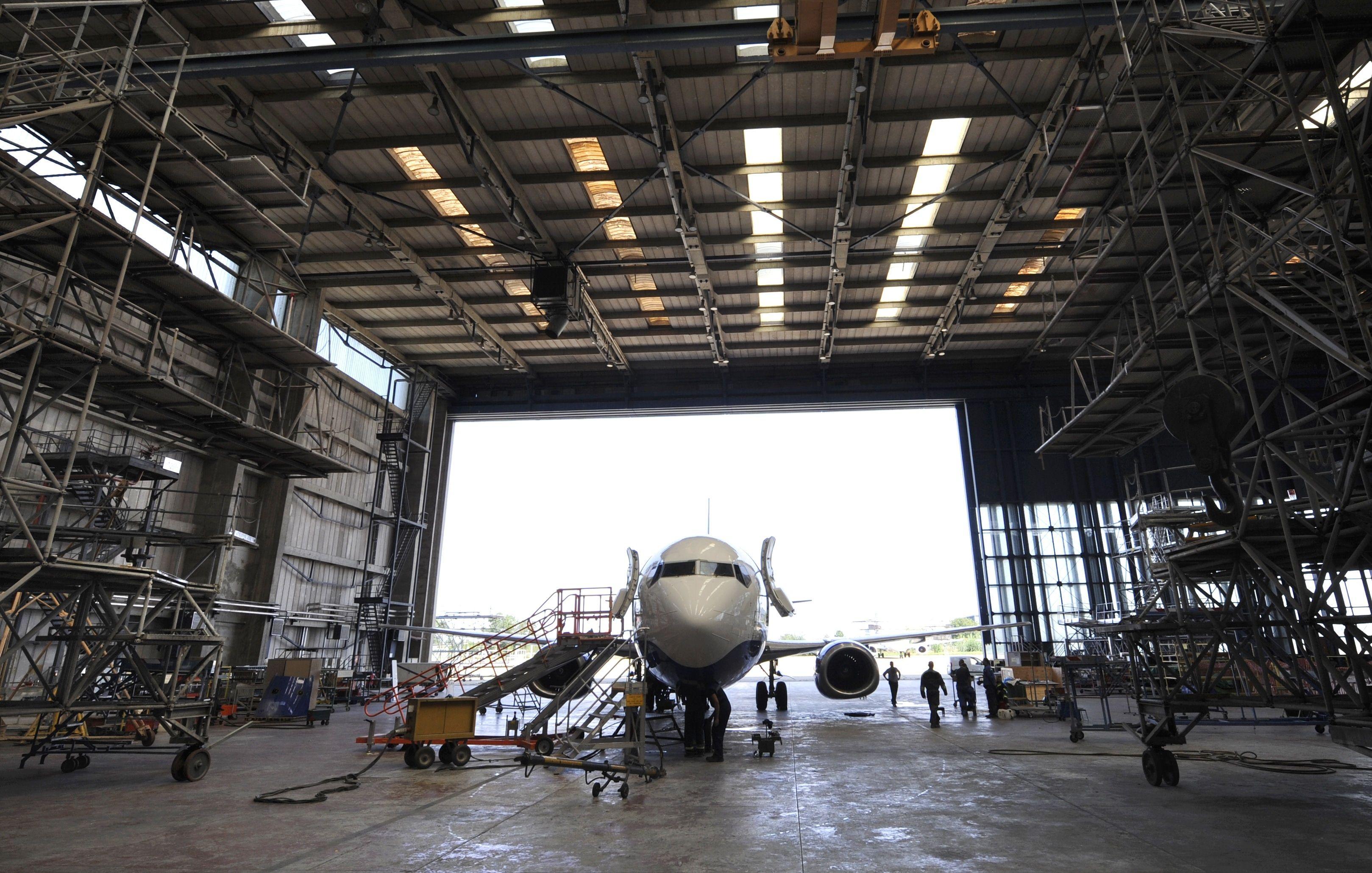 Airplane Hangar w SX5000 Water Repellent Concrete Sealer