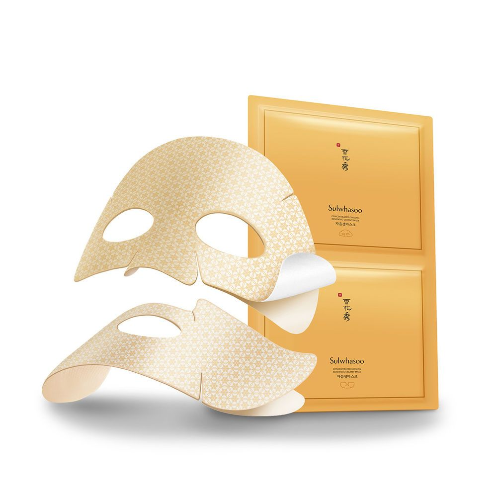 Sulwhasoo Concentrated Ginseng Renewing Creamy Mask 18g5pcs Anti Time Treasure Renovating Cream Ex 60ml Aging