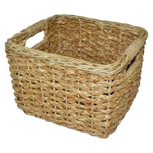Seagrass Small Square Wicker Basket Threshold Target Basket Decoration Wicker Basket
