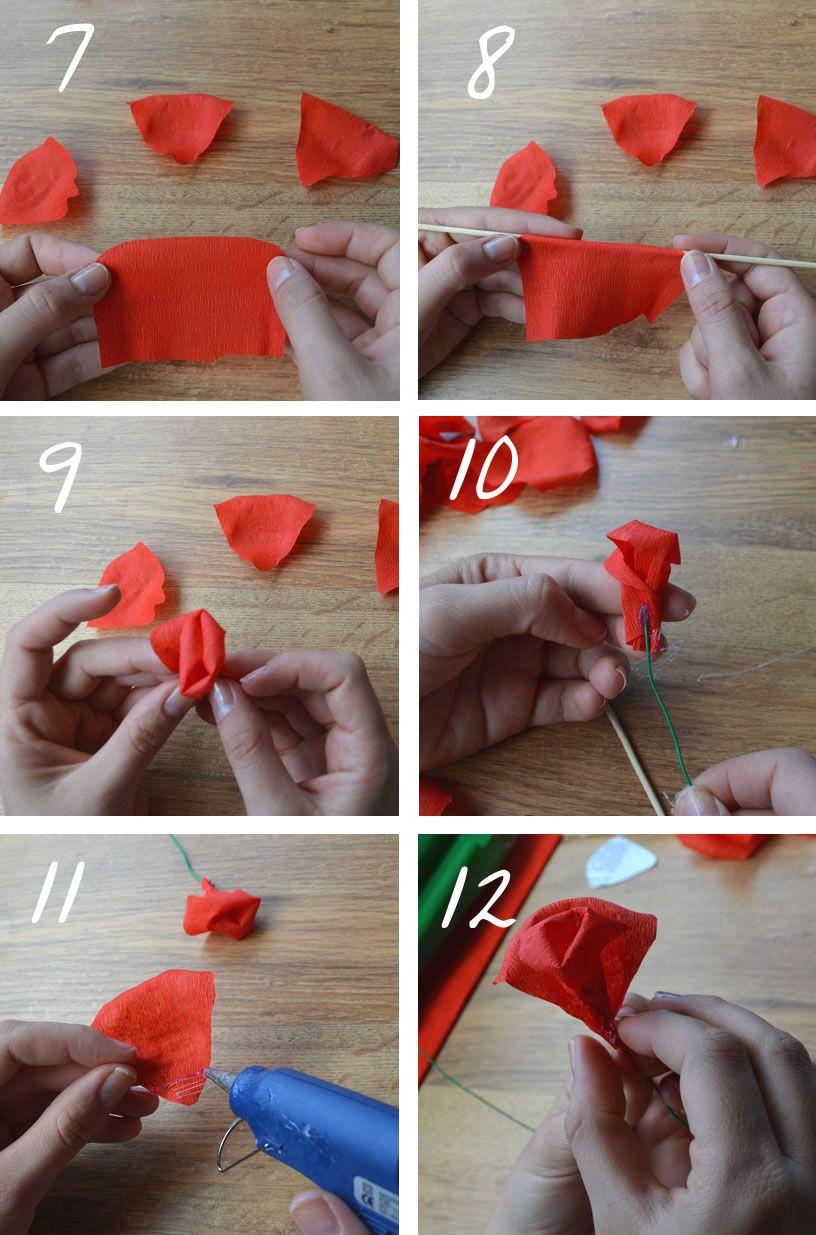tutorial de cmo hacer unas delicadas y vistosas rosas de papel crep de esta manera tendremos flores decorativas en casa sin que se nos estropeen - Como Hacer Rosas De Papel