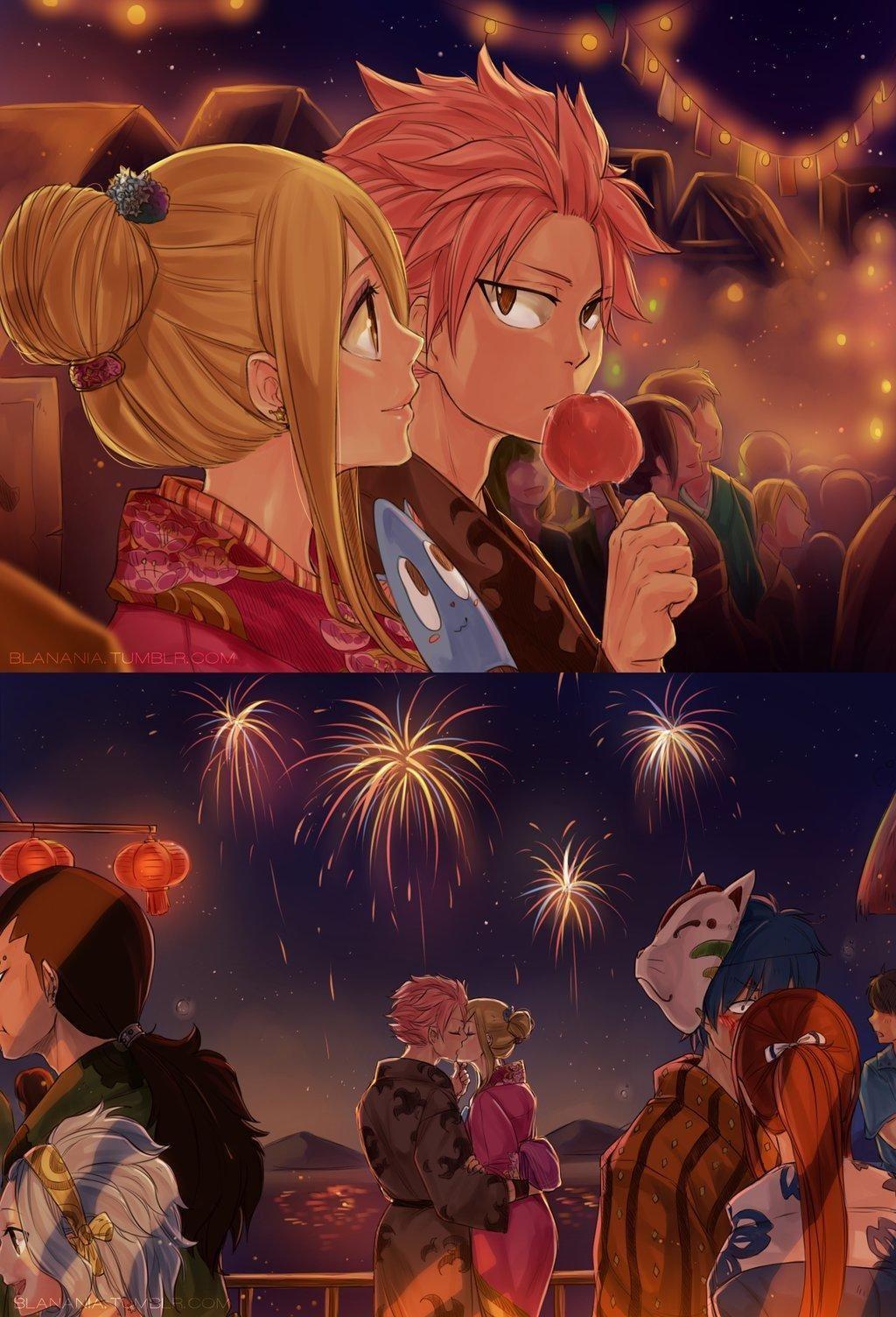 NaLu Kiss   Fairy Tail