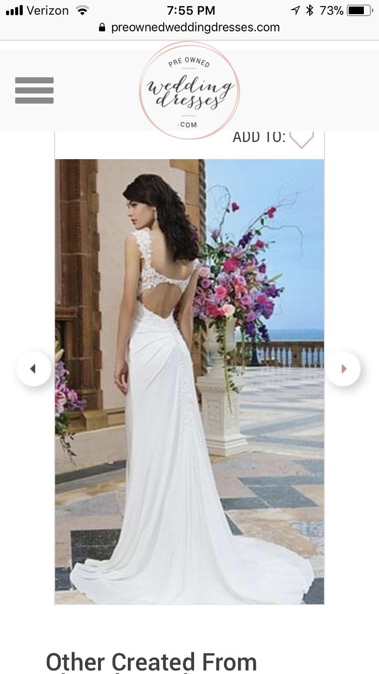 Pre owned wedding dress  Wedding Dress size   WEDDING DRESSES u ACCESSORIES  Pinterest