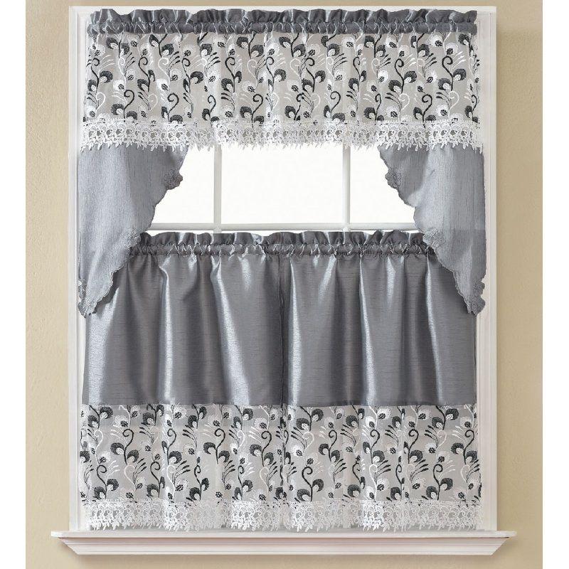 Manningtree 3 Piece Kitchen Curtain Set Kitchen Curtains