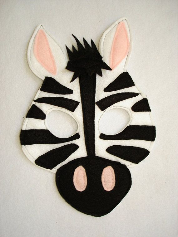 Children's ZEBRA Felt Animal Mask | Our Etsy Shop-Masks ...
