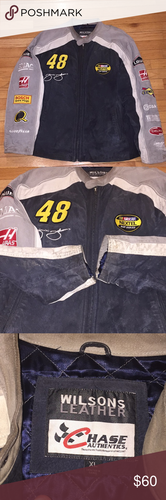 Nascar Wilson Leather Racing Chase Jacket Lowe's Chase