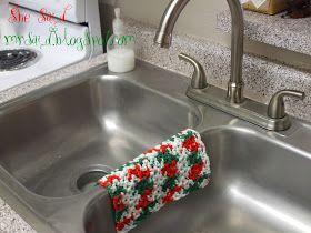 She Said: Christmas Crafting -- Easy Crocheted Dishcloth