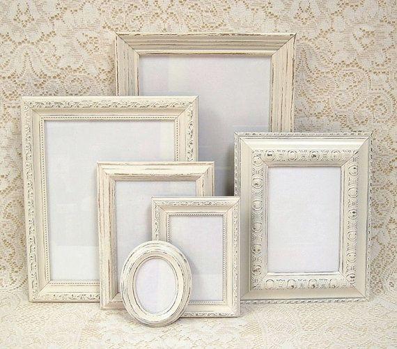 Shabby Chic Frames Picture Frames Ivory Frame Set Off White Ornate ...
