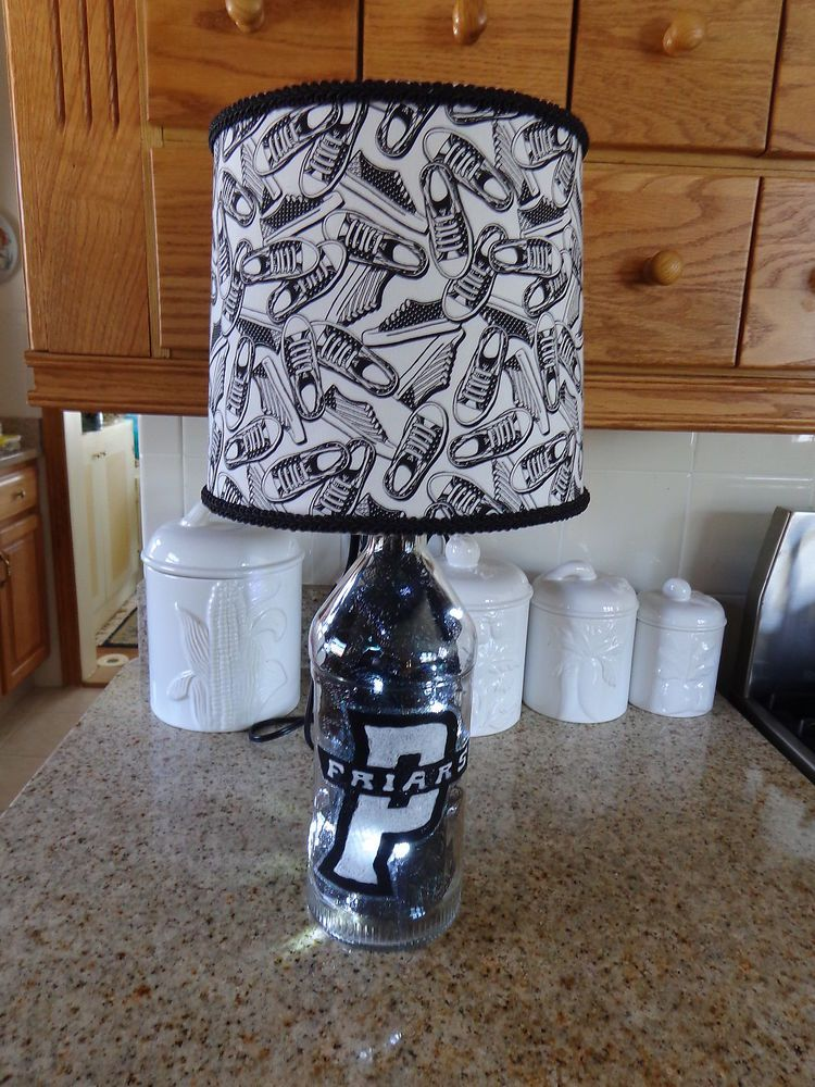 1.75 Lt Stolichnaya Liquor Bottle Lamp (Providence College Friars-Logo & Shade)
