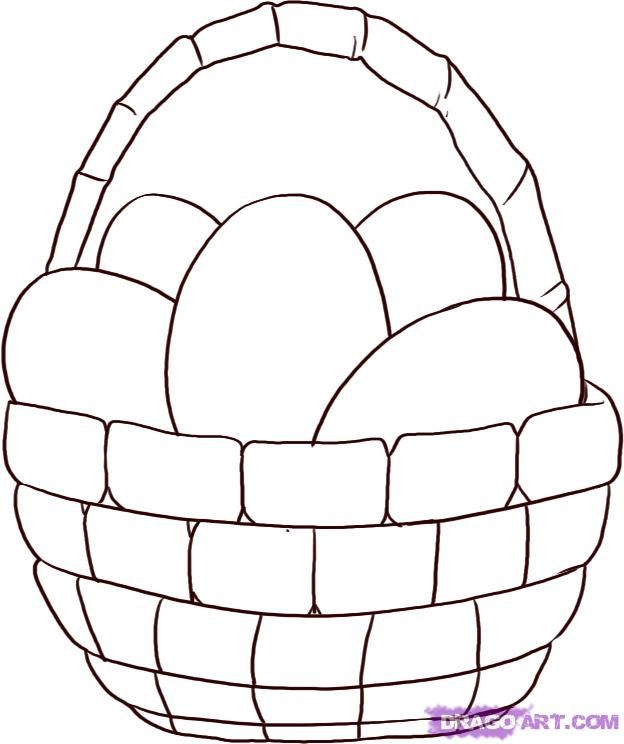 Line Drawing Egg : How to draw an easter egg basket step art stuff