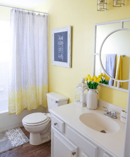 20 Popular Bathroom Paint Colors Eweddingmag Com In 2020 Yellow Bathroom Decor Bright Bathroom Colors Yellow Bathrooms