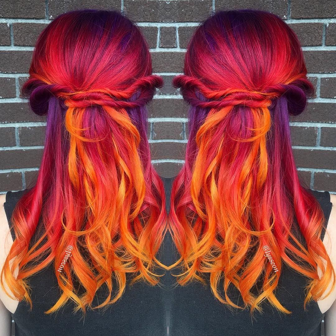 fiery sunset hair lysseon