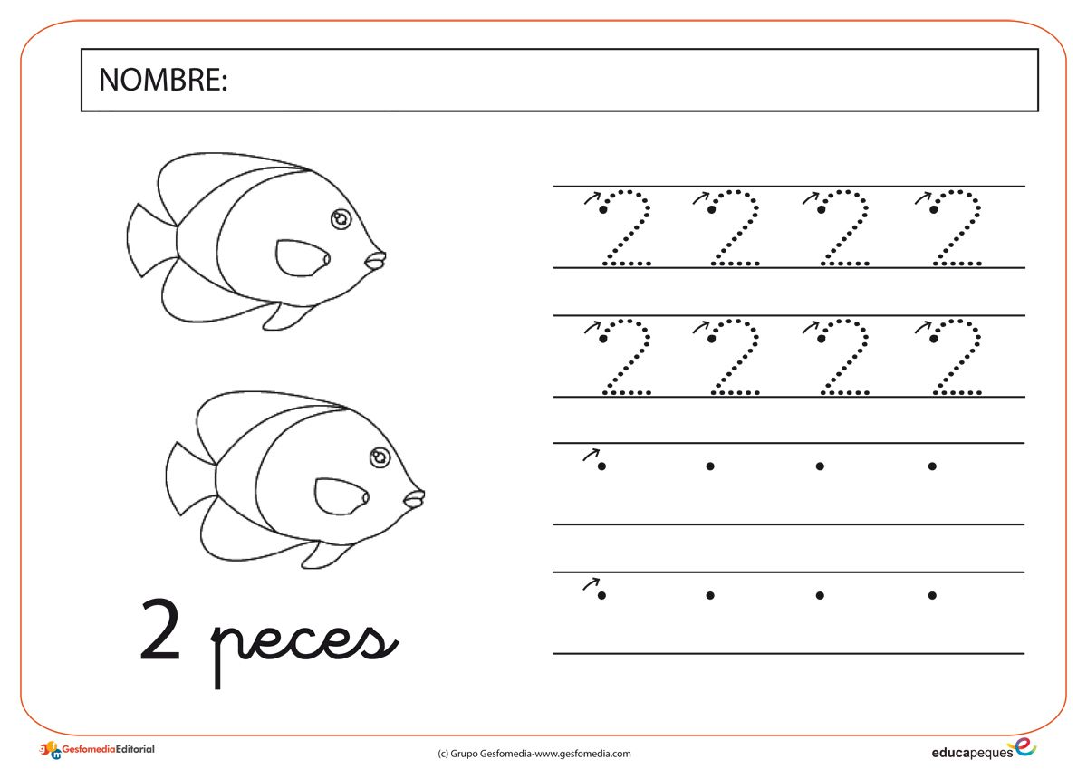 numeros-2.12.jpg (1200×849) | P3 | Pinterest | Trazos, Preescolar y Hoja