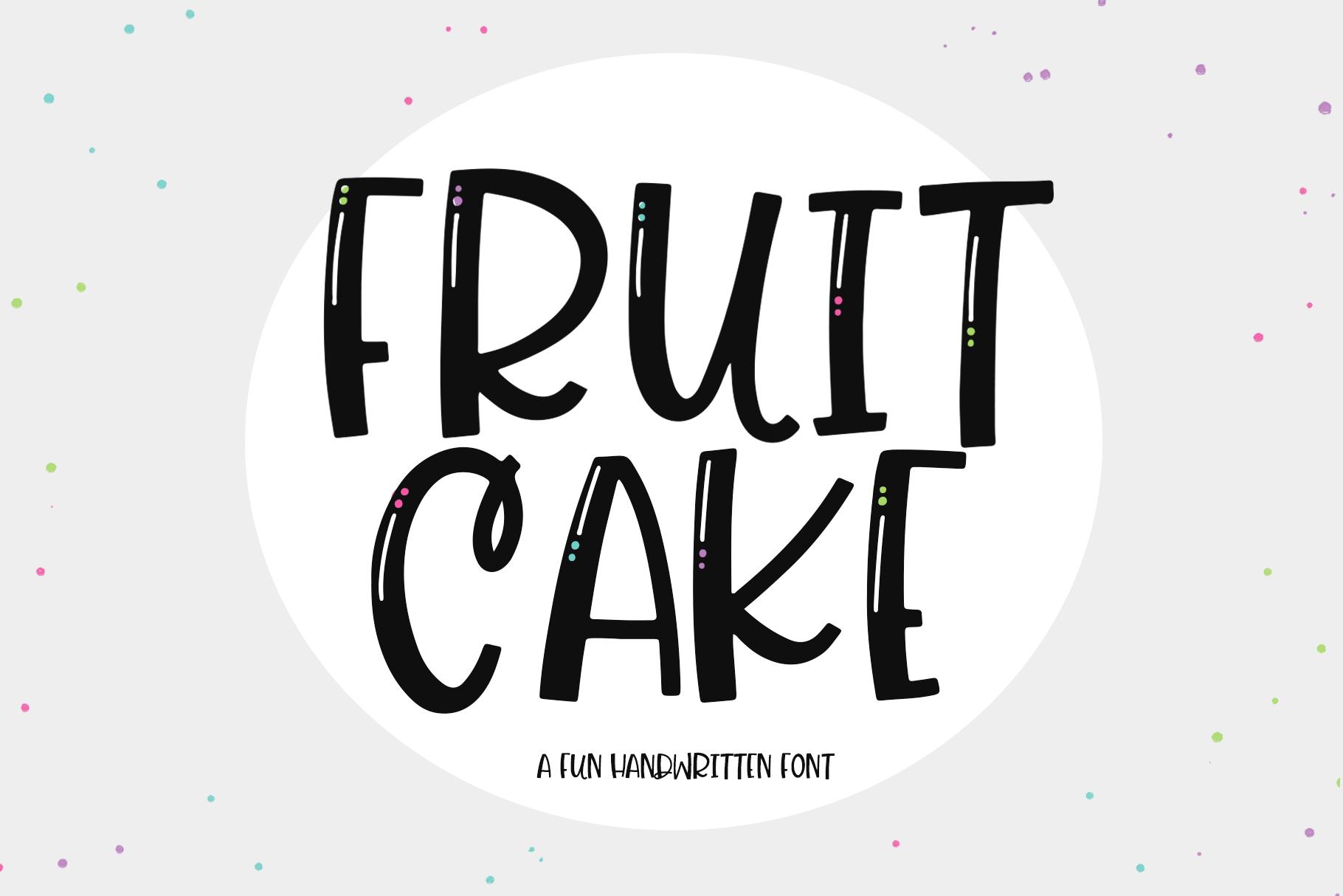 Fruit Cake A Handwritten Font Handwritten fonts, Fonts