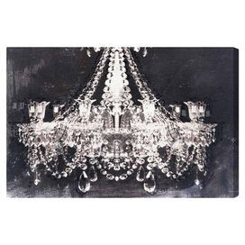 Featuring A Chandelier Silhouette Against A Dark Brushstroke Inspired Background This Hand Stretched Canvas Print Canvas Wall Art Graphic Art Print Canvas Art