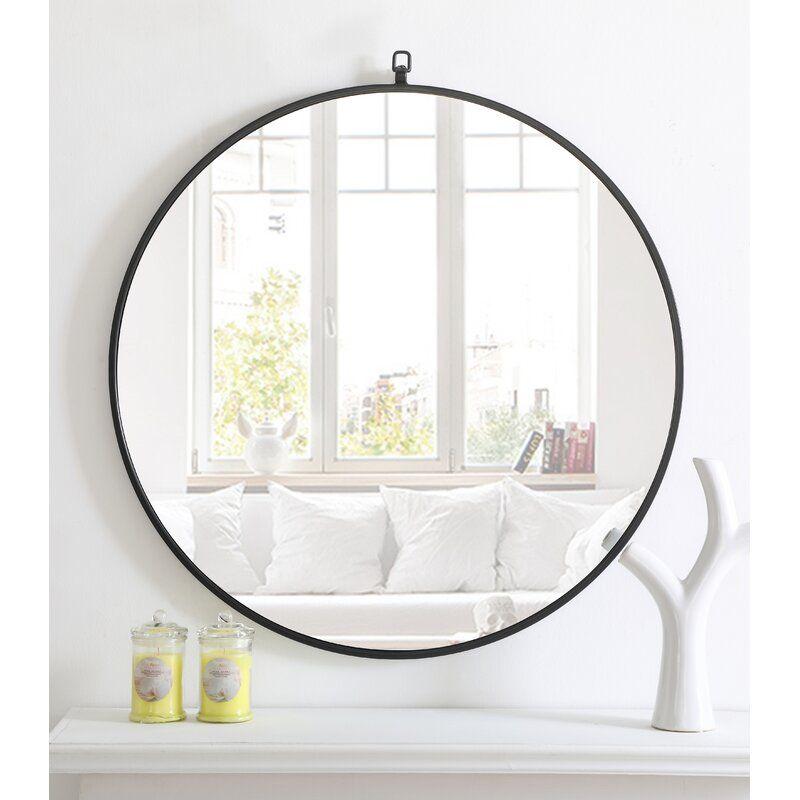 Yedinak Modern Distressed Accent Mirror Reviews Allmodern Accent Mirrors Black Wall Mirror Mirror