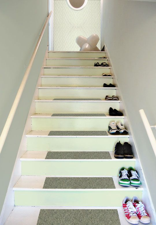 Repainting The Stairway Entry Stairways Painted Stairs | Carpet Tiles For Steps