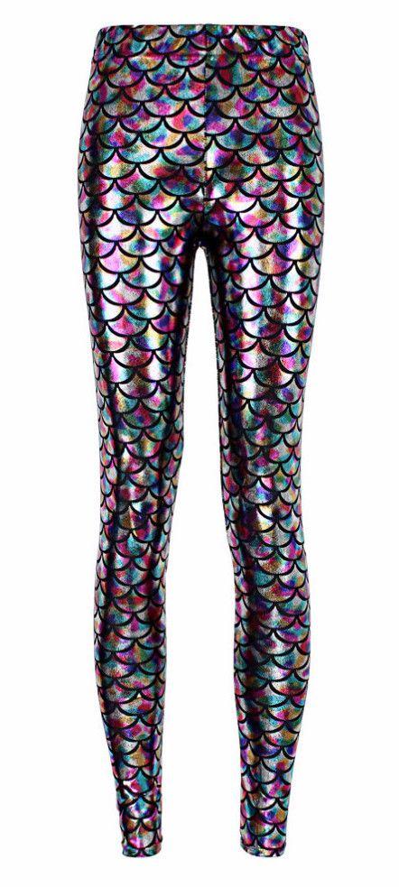 10c6b61b013c9a Rainbow Mermaid Leggings | Disney Fashion | Mermaid leggings ...