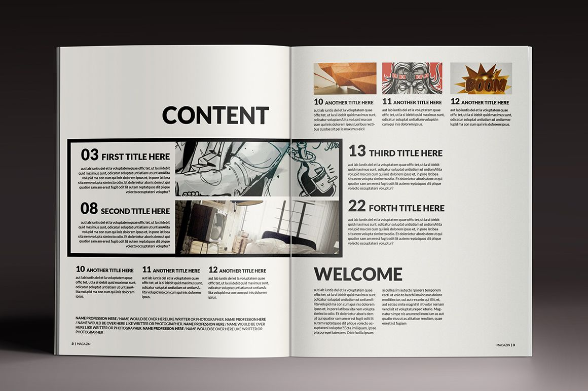 Magazine & Brochure InDesign Templates on Behance | Table Of