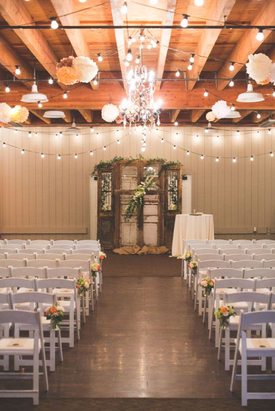 Love This Wedding Reception Venue Inside A Romantic Historic Barn Orange Owl Photo