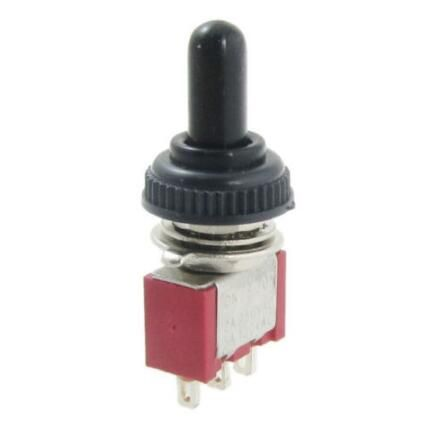 1pcs Ac 250v 2a 120v 5a On Off On Momentary Spdt Toggle Switch Waterproof Boot L6 Toggle Switch Electrical Switches Sodial