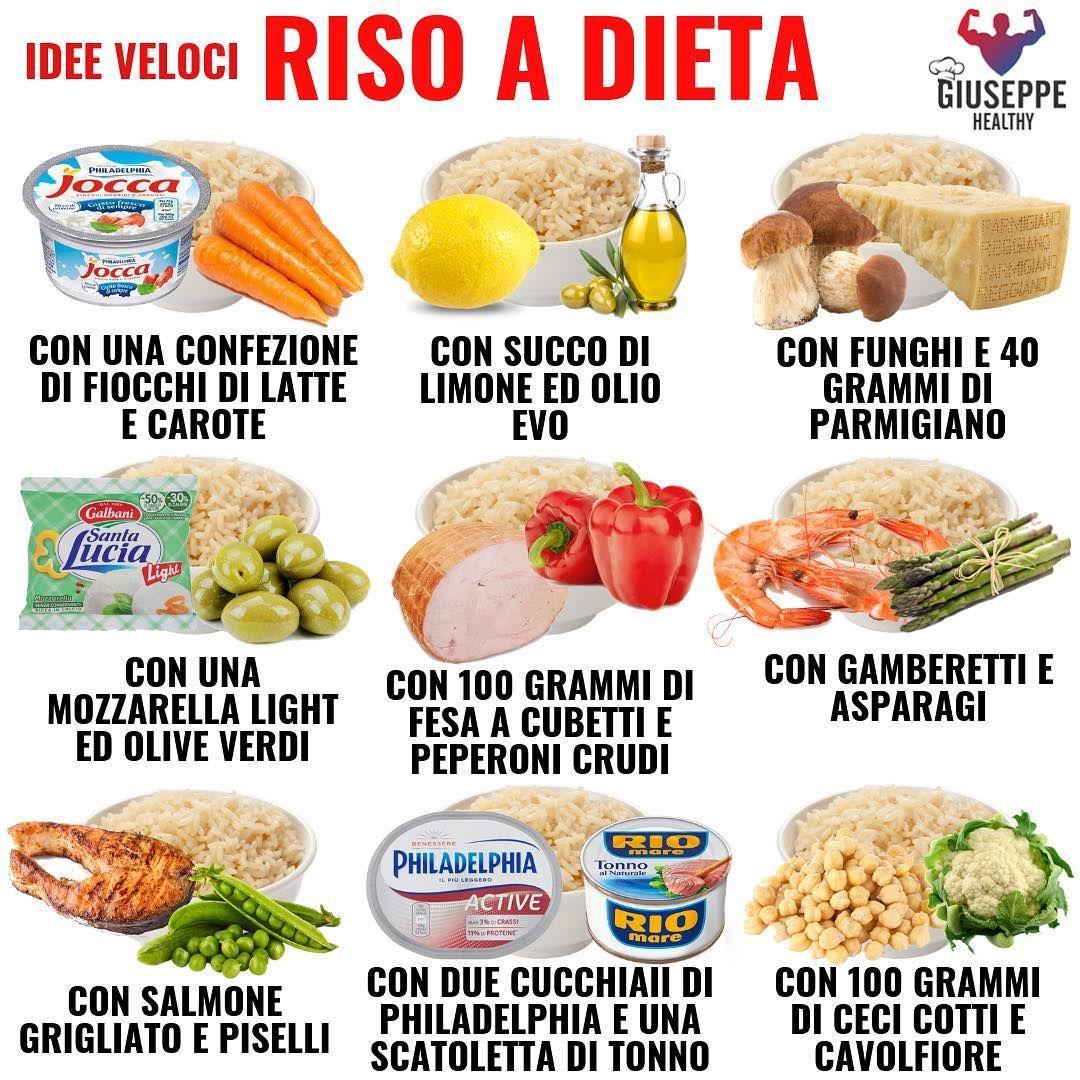 """Giuseppe Healthy on Instagram: """"👉 Il riso è una delle fonti di carboidrati più consigliate, calorie quasi simili a quelle della pasta ma sicuramente molto più saziante ed…"""""""