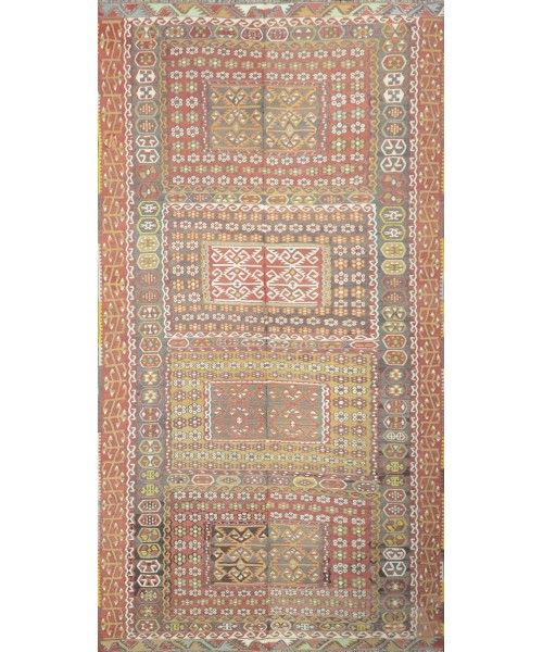 Old Turkish Kilim Rug Kl 11 Kl 11 Design 1570 Size 6 11 X 12 10 Carpet Rugs Flooring Office Home Decoration Bedroom Rugs Kilim Flat Weave Rug