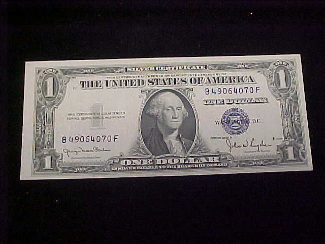 1935 D $1 Silver Certificate Mint Error Offcenter Note Original ...