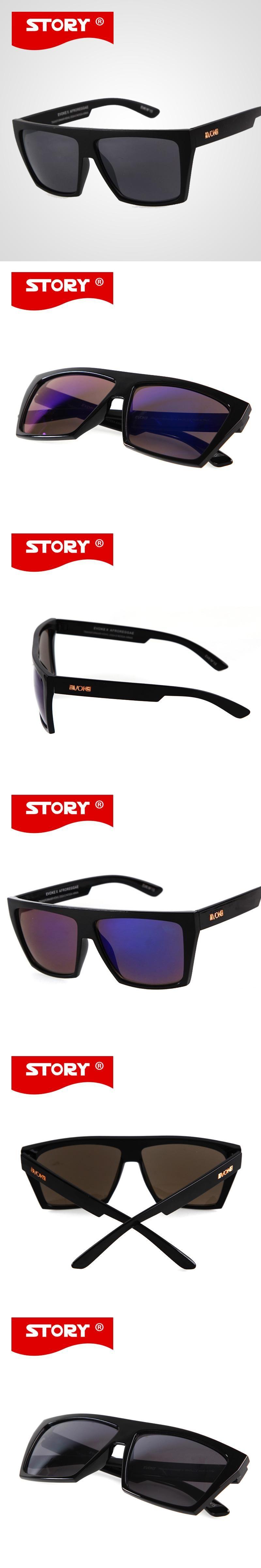 EVOKE Sunglasses Mens Square Sport Coating Amplifier Sun Glasses STORY 12  Colors Men Outdoor Oculos de 762eec894f