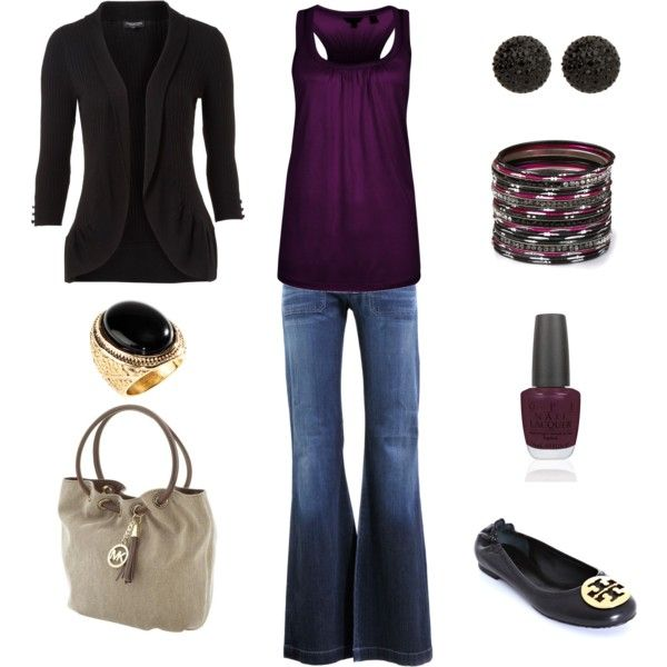 Black and Purple, created by achristie.polyvore.com