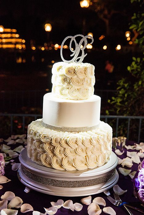 With Its Bling And Rosette Accents This Disneyland Wedding Cake Is Nothing Short Of Spectacular