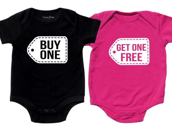 c0cfa471a7ab2 Twins Baby Clothes, Funny Twin Shirts, Boy Girl Twin Outfits, Twin ...