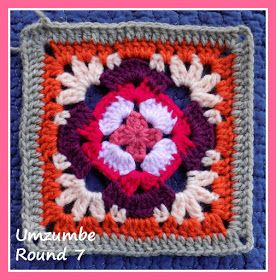 Zooty Owl's Crafty Blog: Seaside Winter Blanket CAL: Umzumbe Square 1