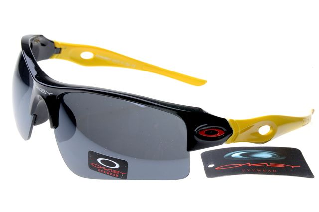Oakley Fuel Cell Sunglasses Yellow Black Frame Gray Lens 0428