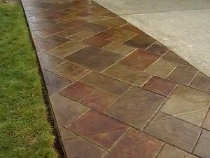 Stamped Concrete Stained To Look Like Stone Stained Concrete Patio Stain Stamped Concrete