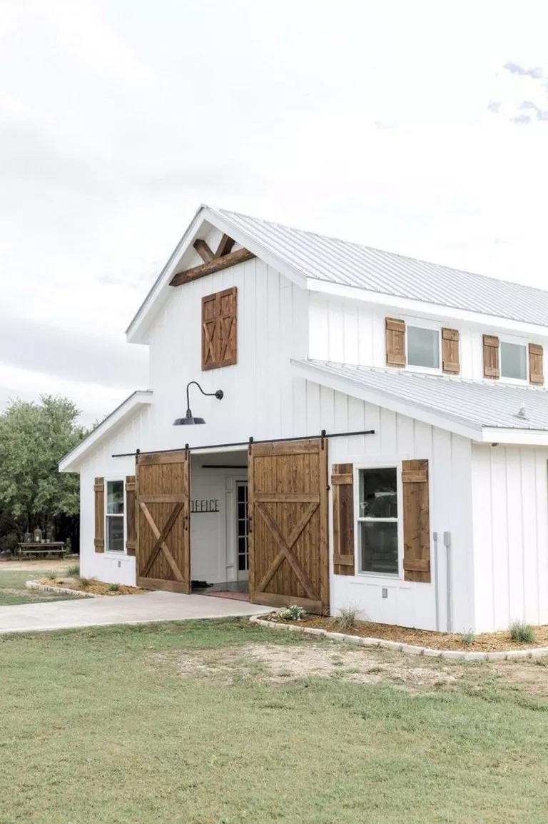 ✔43 cozy modern farmhouse design 18 #barndominiumideas