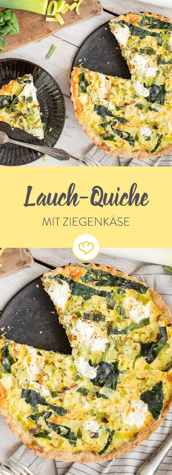 Photo of Leek quiche with spinach and goat cheese