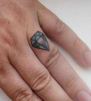 Galería De Tatuajes En Dedos De La Mano Tatuaje De Diamante Cosas
