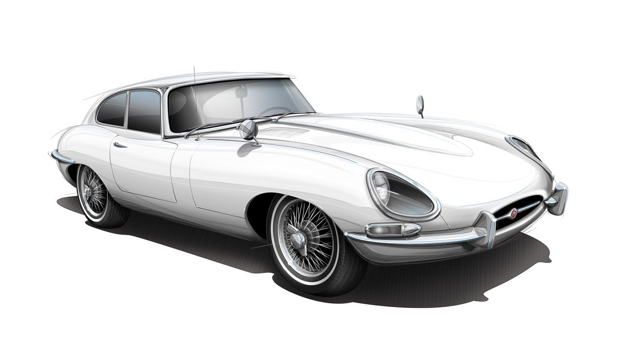 jaguar car drawing - photo #19