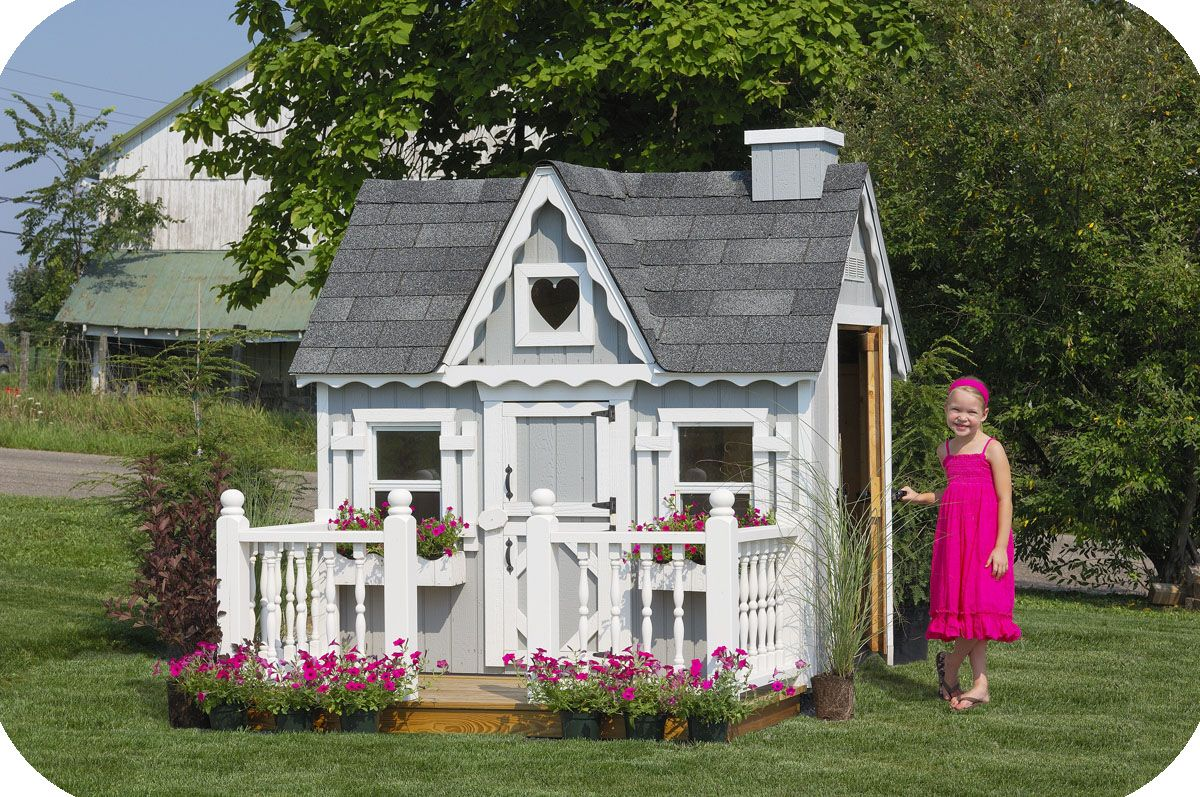 Kids Outdoor Wooden Playhouses Are An Ideal Place For Your Kids Imagination  To Run Wild.