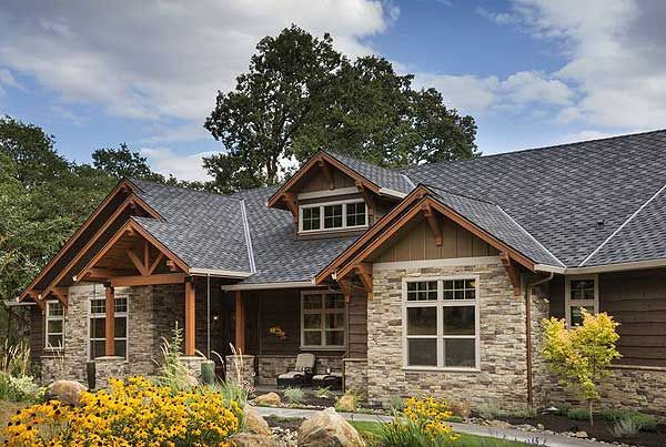 ranch home plans rustic house plan 0205 at - Craftsman Ranch Home Exterior