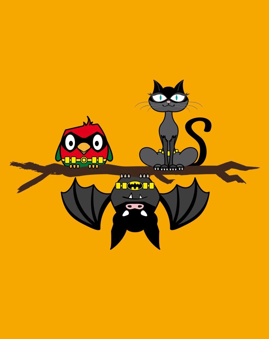Bat & Co  #batman, #catwoman, #robin, #bird