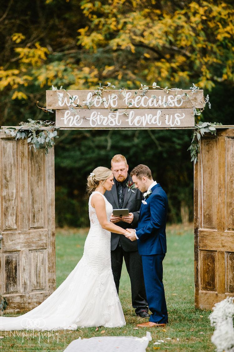 Wedding decorations rustic october 2018 This Elegantly Rustic Fall Barn Wedding is Perfectly Pretty in