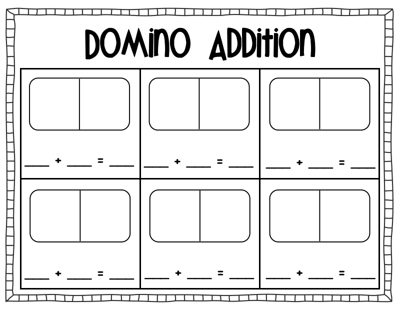 Domino Addition Sheet Pdf Math Addition Teaching Math 1st Grade Math