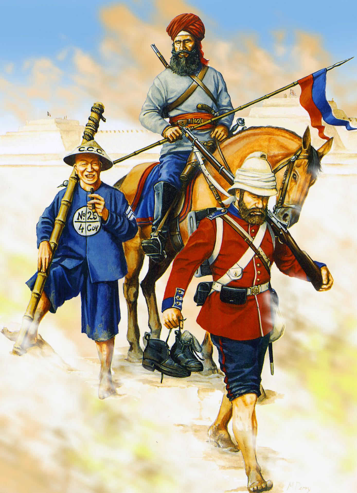 manchu troops opium war opium war art war and troops fane s sikh cavalry regiment canton coolie corps at taku forts during the taiping rebellion
